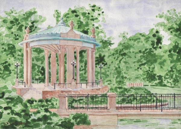 St Louis Arch Painting - The Muny At Forest Park by Bill Torrington