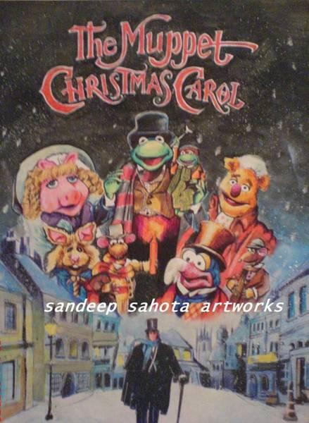 Orlando Bloom Painting - The Muppet Christmas Carol by San Art Studio