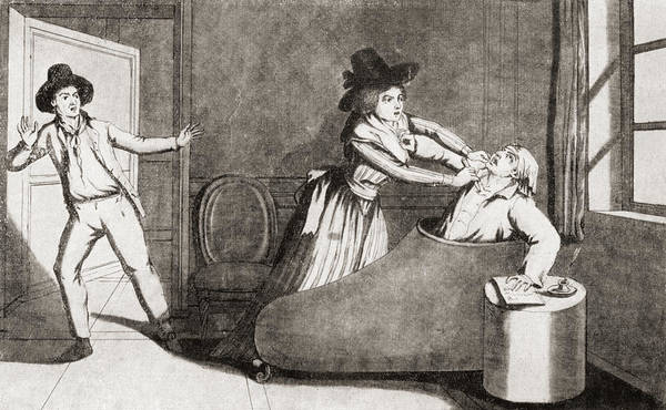Wall Art - Drawing - The Murder Of Marat At The Hands by Vintage Design Pics
