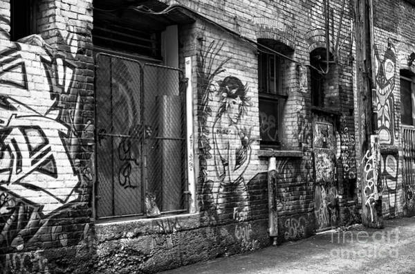 Wall Art - Photograph - The Muse Of The Alley Mono by John Rizzuto