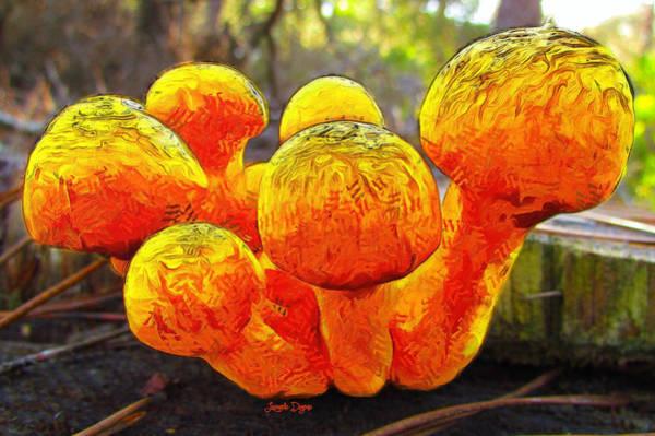 Eating Mixed Media - The Mushroom 9 - Mm by Leonardo Digenio