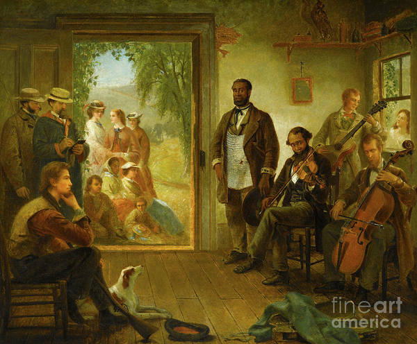 Wall Art - Painting - The Musicale, Barber Shop, Trenton Falls, New York, 1866 by Thomas Hicks