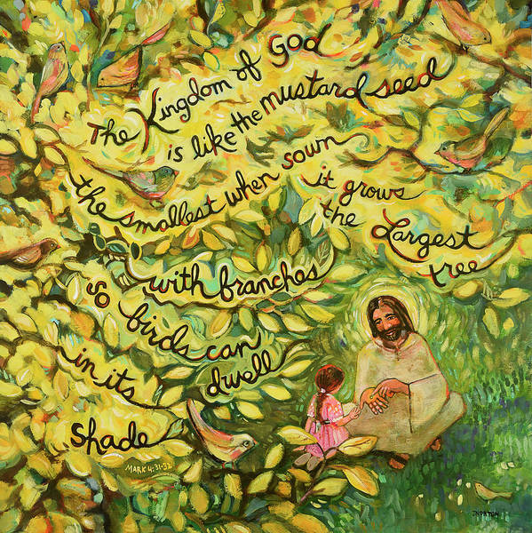 Biblical Wall Art - Painting - The Mustard Seed by Jen Norton