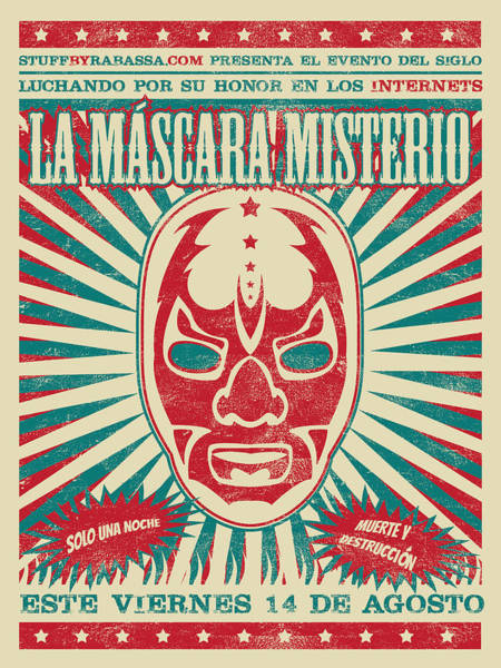 Parody Drawing - The Mysterious Mask by Richard Rabassa