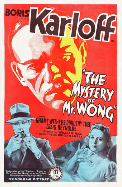 Wall Art - Mixed Media - The Mystery Of Mr Wong 1939 by Mountain Dreams