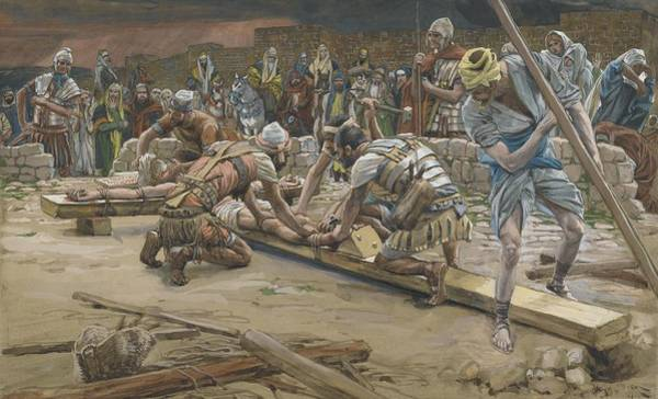 Golgotha Painting - The Nail For The Feet by Tissot