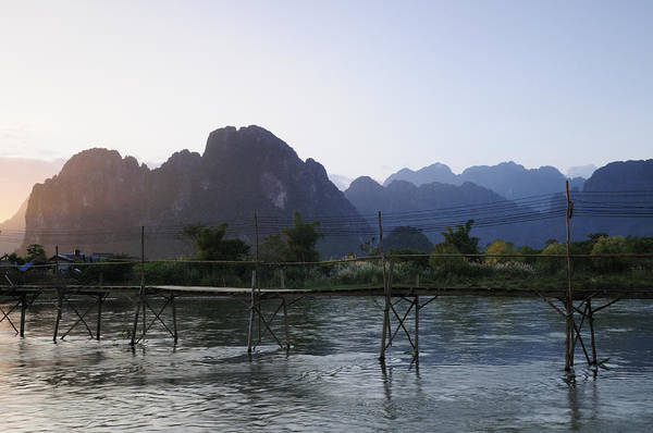 Wall Art - Photograph - The Nam Song River At Vang Vieng In Laos by Liz Pinchen