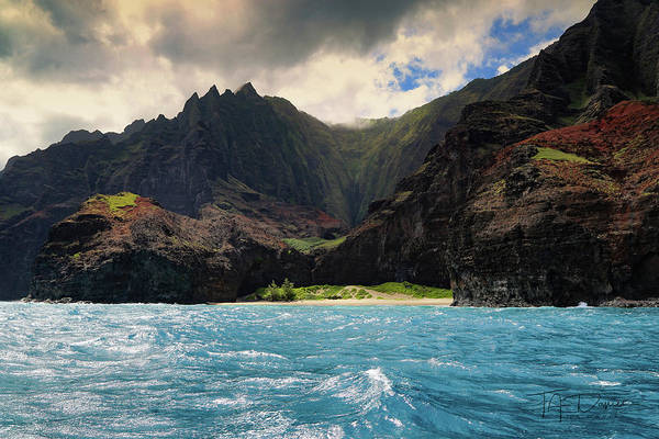 Photograph - The Napali Coast by T A Davies