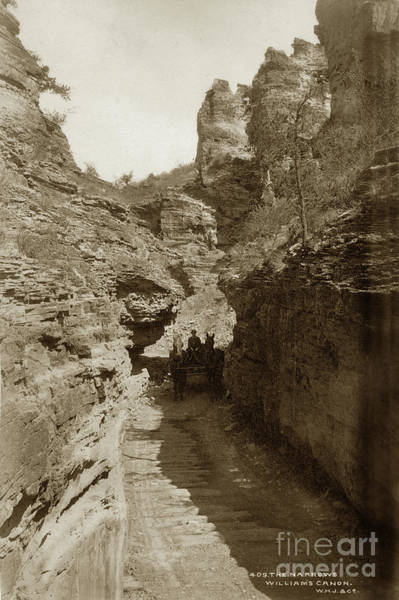 Photograph - The Narrows, Williams Canon Colorado 1885 by California Views Archives Mr Pat Hathaway Archives