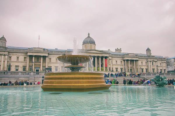 Trafalgar Photograph - The National Gallery  by Martin Newman
