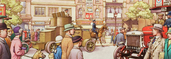 Traffic Painting - The National Strike In 1926 by Pat Nicolle