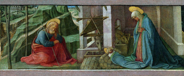 Painting - The Nativity by Fra Filippo Lippi