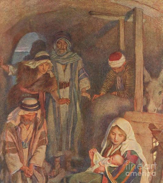 Bethlehem Wall Art - Painting - The Nativity by Harold Copping