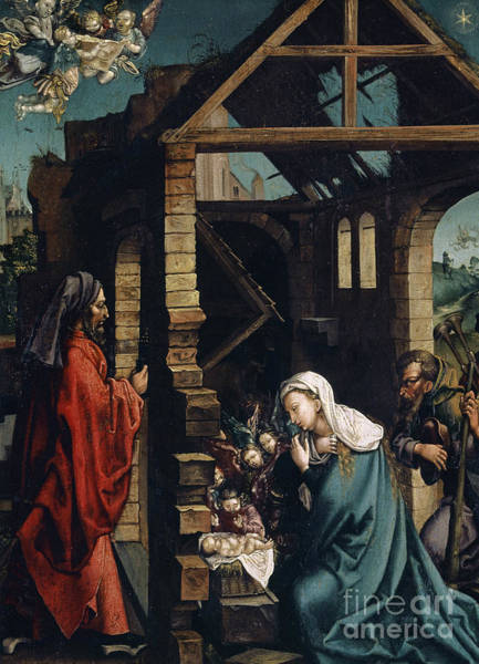 Wall Art - Painting - The Nativity Of Christ By Durer by Albrecht Durer