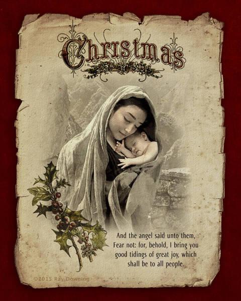 Wall Art - Digital Art - The Nativity by Ray Downing
