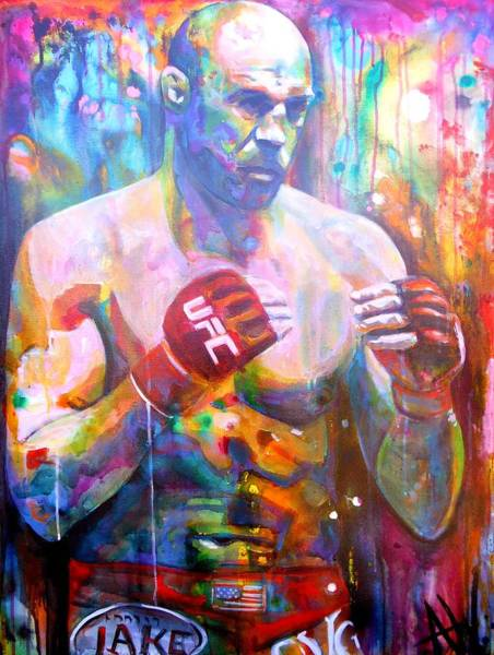 Big Fight Painting - The Natural by Angie Wright