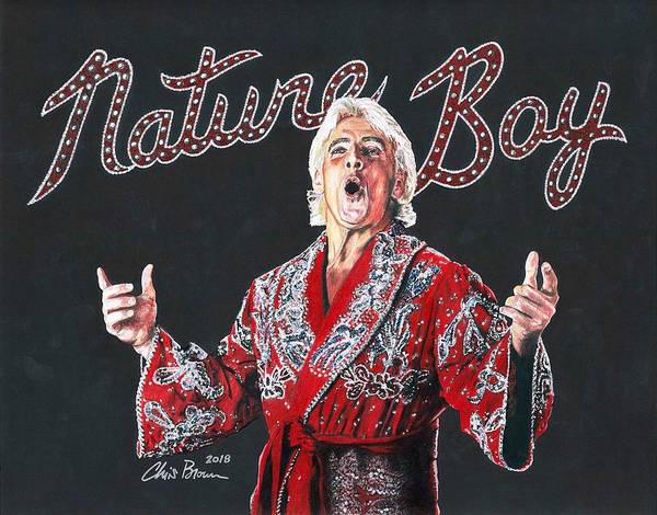 World Wrestling Federation Wall Art - Drawing - The Nature Boy, Ric Flair by Chris Brown