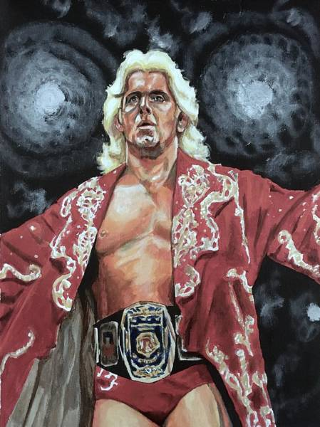 Painting - The Nature Boy Ric Flair by Joel Tesch