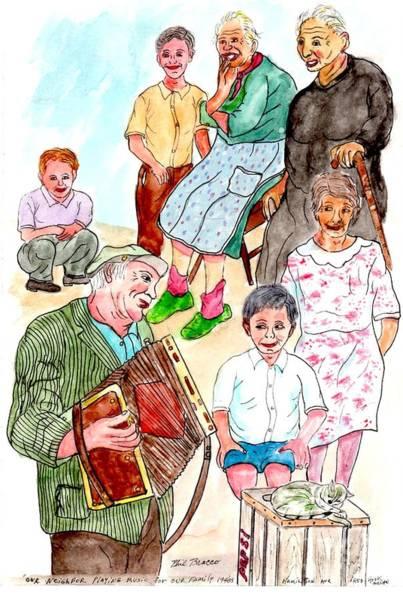 Painting - The Neighborhood Music Man by Philip Bracco