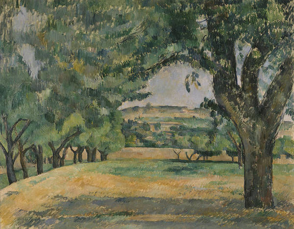 Painting - The Neighborhood Of Jas De Bouffan by Paul Cezanne