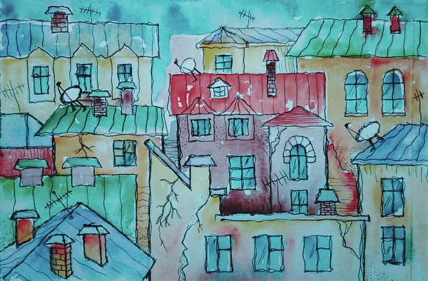 Neighborhood Painting - The Neighborhood by Pixabay