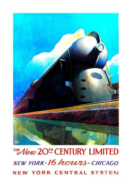 Diesel Trains Painting - The New 20th Century Limited New York Central System 1939 by Peter Ogden Gallery