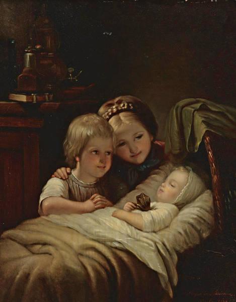Meyer Painting - The New Brother by Johann Georg Meyer von Bremen