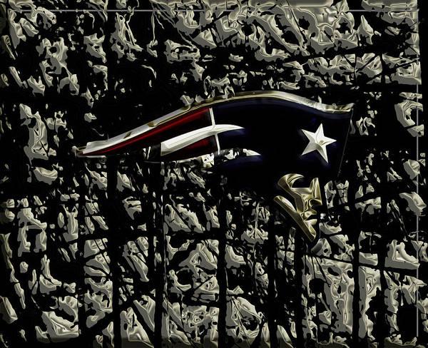 Atlanta Falcons Mixed Media - The New England Patriots 2a by Brian Reaves