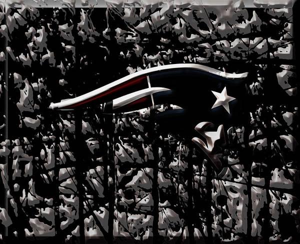 Atlanta Falcons Mixed Media - The New England Patriots 2b by Brian Reaves