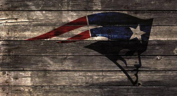 Atlanta Falcons Mixed Media - The New England Patriots 2w by Brian Reaves