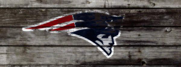 Wall Art - Mixed Media - The New England Patriots C3 by Brian Reaves