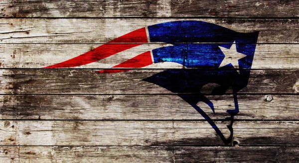 Atlanta Falcons Mixed Media - The New England Patriots W1 by Brian Reaves