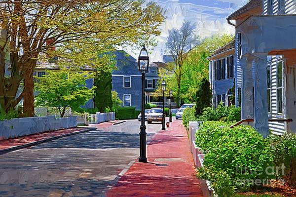 Digital Art - The New England Sidewalk by Kirt Tisdale