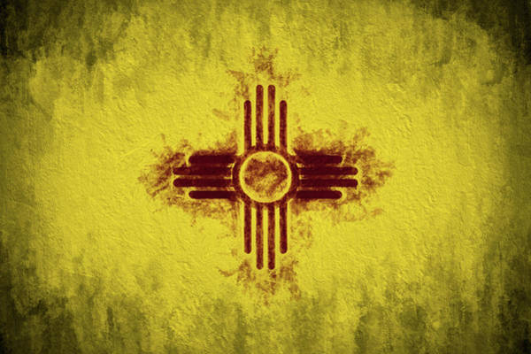 Digital Art - The New Mexico Flag by JC Findley