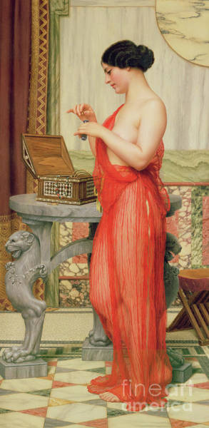Intimate Portrait Wall Art - Painting - The New Perfume, 1914 by John William Godward