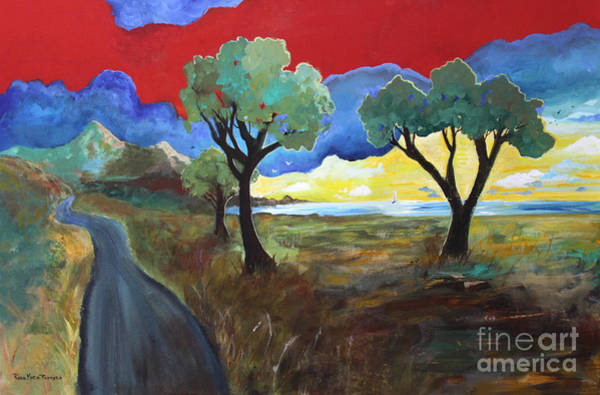 Painting - The New Road by Robin Maria Pedrero