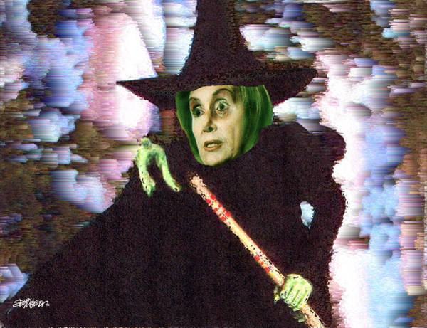 Wicked Witch Digital Art - The New Wicked Witch Of The West by Seth Weaver