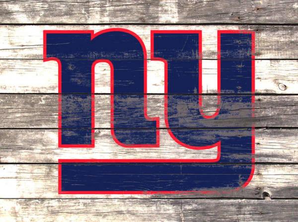 Wall Art - Mixed Media - The New York Giants 3i         by Brian Reaves
