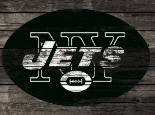 Wall Art - Mixed Media - The New York Jets 3h by Brian Reaves