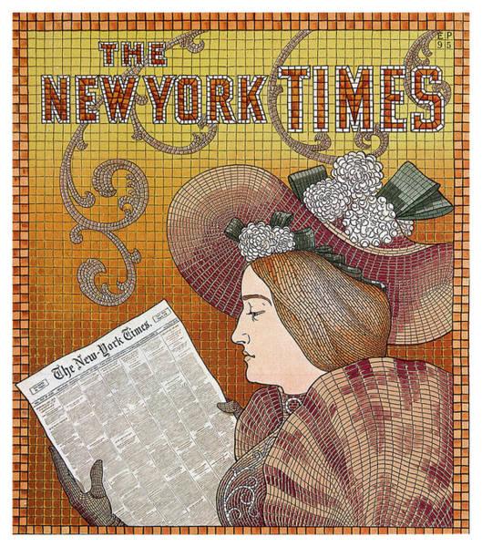 Wall Art - Mixed Media - The New York Times - Magazine Cover - Vintage Art Nouveau Poster by Studio Grafiikka
