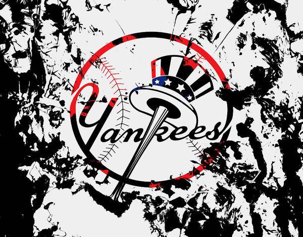 Wall Art - Mixed Media - The New York Yankees 1b by Brian Reaves