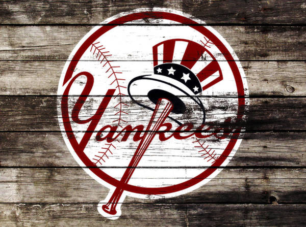 Wall Art - Mixed Media - The New York Yankees 3a     by Brian Reaves