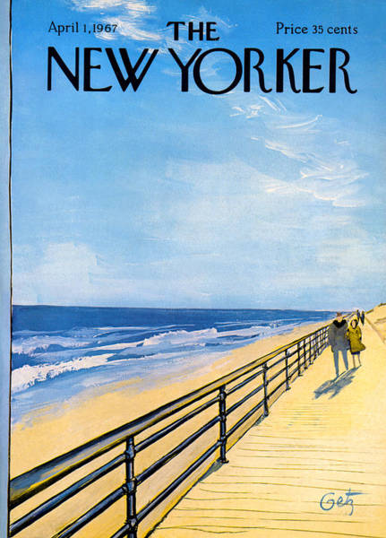Wall Art - Painting - The New Yorker Cover - April 1st, 1967 by Arthur Getz