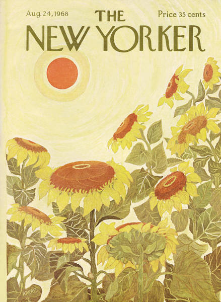 Floral Painting - The New Yorker Cover - August 24th, 1968 by Conde Nast