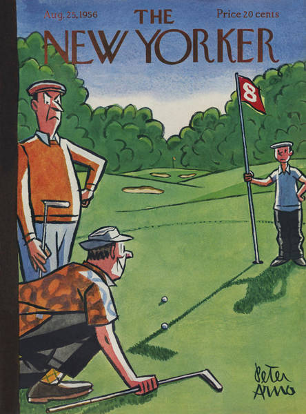 Golf Painting - The New Yorker Cover - August 25th, 1956 by Peter Arno