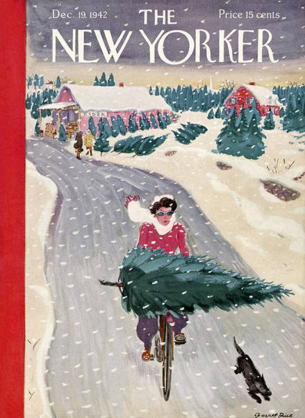 Winter Holiday Photograph - The New Yorker Cover - December 19th, 1942 by Garrett Price