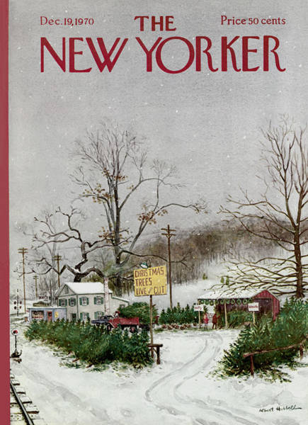 Snowing Painting - The New Yorker Cover - December 19th, 1970 by Conde Nast