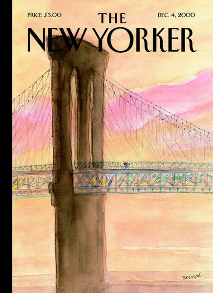 Photograph - The New Yorker Cover - December 4th, 2000 by Jean-Jacques Sempe