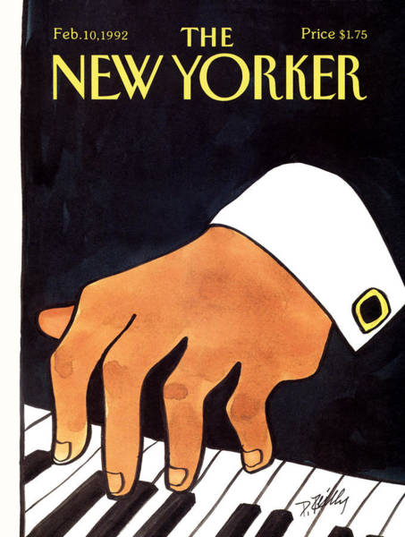 Keyboards Painting - The New Yorker Cover - February 10th, 1992 by Donald Reilly