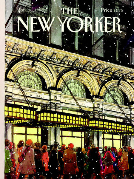 Crowds Wall Art - Painting - The New Yorker Cover - January 18th, 1988 by Roxie Munro